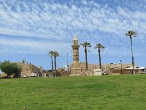 Una mezquita antigua en Cesarea en Israel Fotografía de archivo
