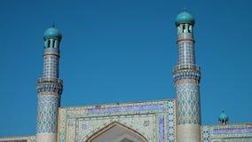 Una mezquita hermosa en Afganistán metrajes