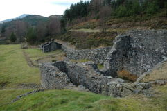 Una mina abandonada del terminal de componente fotos de archivo libres de regalías