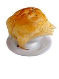 Una minestra del cereale con la torta di vaso sulla cima Fotografia Stock