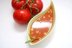 Una minestra fresca dei pomodori Fotografia Stock Libera da Diritti