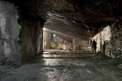 Una miniera dell'ardesia vicino a Genova, valle di Fontanabuona Immagini Stock
