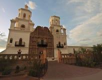 Una missione San Xavier del Bac, Tucson Fotografia Stock Libera da Diritti