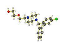 Una molecola del atarax Immagine Stock