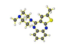 Una molecola dello zyprexa Immagini Stock