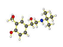 Una molecola di Proair Immagini Stock