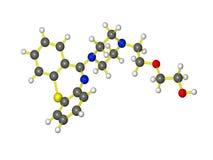 Una molecola di seroquel Fotografia Stock Libera da Diritti