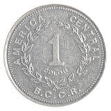 Una moneda de Costa Rican Colon Imágenes de archivo libres de regalías