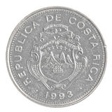 Una moneda de Costa Rican Colon Fotos de archivo libres de regalías