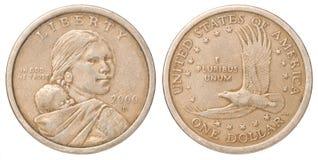 Una moneda de dólar americano imagenes de archivo