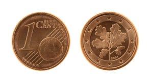 Una moneda de Eurocents Imagen de archivo