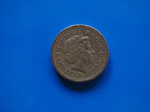 Una moneda de libra, Reino Unido en Londres Imagen de archivo