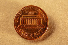 Una moneda del centavo Fotos de archivo