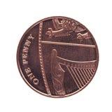 Una moneda del penique Imágenes de archivo libres de regalías