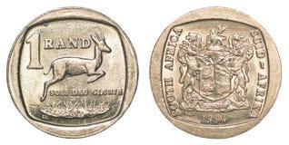 Una moneda del rand sudafricano Imágenes de archivo libres de regalías