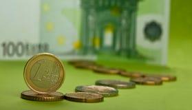 Una moneda euro Fotos de archivo
