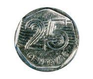 Una moneta da 25 centavi La Banca del Brasile Obverse, 1994 Fotografie Stock Libere da Diritti