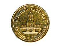 Una moneta da 25 centavi La Banca dell'Argentina Reverse, 1993 Fotografia Stock