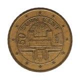 una moneta da 50 centesimi, Austria, Europa Fotografia Stock