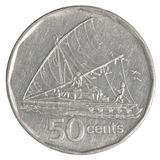 Una moneta da 50 centesimi del Fijian Immagine Stock Libera da Diritti