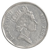 Una moneta da 50 centesimi del Fijian Fotografia Stock Libera da Diritti