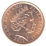 Una moneta da 10 centesimi della Nuova Zelanda Fotografie Stock Libere da Diritti