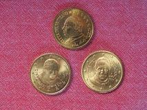 Una moneta da 50 centesimi di EUR Fotografia Stock Libera da Diritti