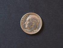 una moneta da 5 centesimi, Svizzera Fotografia Stock