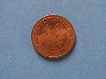 una moneta da 5 centesimi, Unione Europea, Germania Fotografia Stock