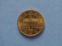 una moneta da 50 centesimi, Unione Europea, Germania Fotografia Stock Libera da Diritti