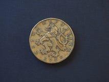 una moneta da 20 corone, repubblica Ceca Fotografia Stock