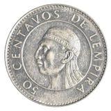 Una moneta da 50 del Honduran centavi della lempira Fotografia Stock