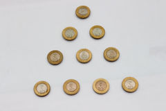 Una moneta da dieci rupie dell'India Immagine Stock Libera da Diritti