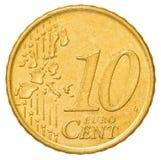 una moneta da 10 euro centesimi Fotografia Stock Libera da Diritti