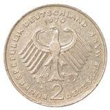 una moneta da 2 marchi tedeschi Fotografia Stock Libera da Diritti