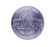 Una moneta dai cinque centesimi Fotografia Stock Libera da Diritti