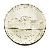Una moneta dai cinque centesimi Fotografia Stock