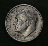 Una moneta dai dieci centesimi Immagine Stock