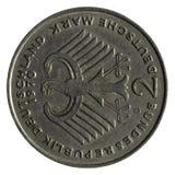 Una moneta dei due contrassegni tedeschi Immagini Stock