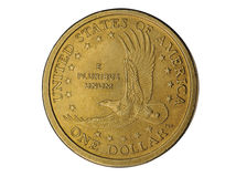 Una moneta del dollaro immagini stock libere da diritti