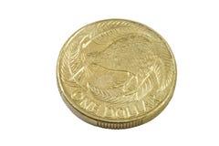 Una moneta del kiwi della Nuova Zelanda del dollaro Immagini Stock