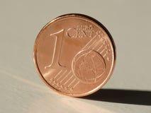 Una moneta dell'euro del centesimo Fotografia Stock