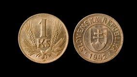 Una moneta della Slovenia di 1942 Fotografia Stock Libera da Diritti