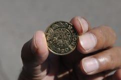una moneta delle 20 corone scandinave Immagini Stock Libere da Diritti