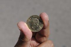 una moneta delle 20 corone scandinave Fotografie Stock