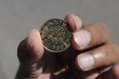 una moneta delle 20 corone scandinave Fotografia Stock Libera da Diritti