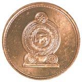 Una moneta dello Sri Lanka da 50 centesimi della rupia Immagine Stock