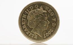 Una moneta di libbra Fotografie Stock Libere da Diritti