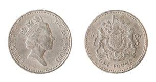 Una moneta di libbra britannica Fotografia Stock Libera da Diritti