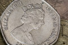 una moneta di 50 penne fotografia stock